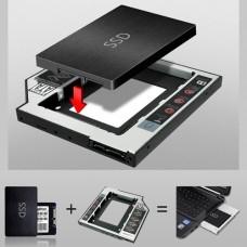 """Adapter ViTi Optibay  12.7 (устройство для установки  2.5"""" диска (SSD диска) на место DWD в ноутбук)"""